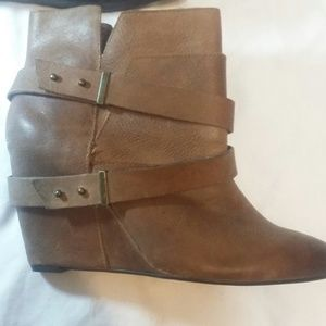 Naughty Monkey Tan Leather Bootie with Straps